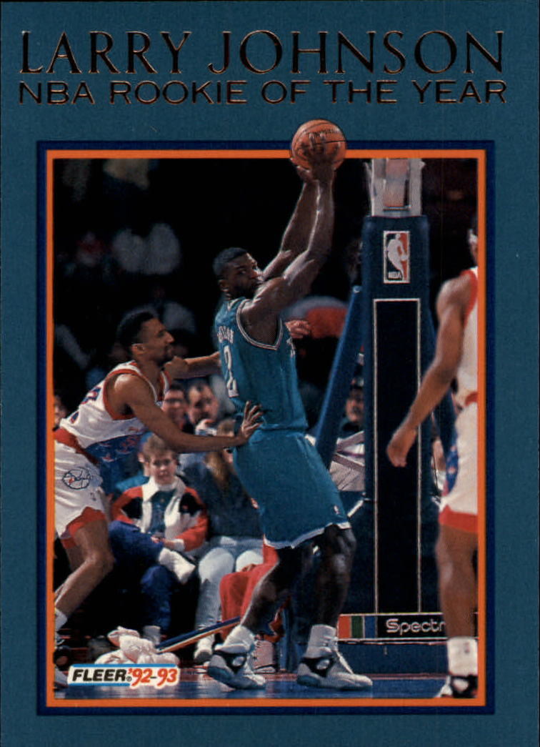 1992-93 Fleer Larry Johnson #3AU Larry Johnson AU