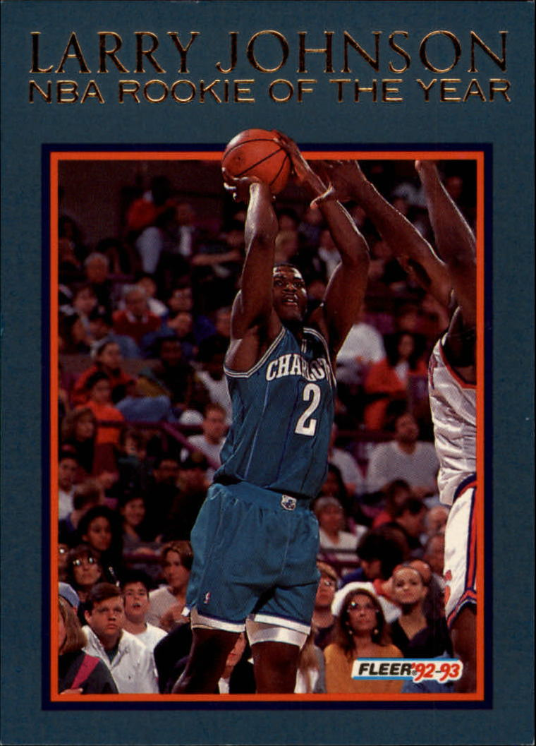 1992-93 Fleer Larry Johnson #4AU Larry Johnson AU