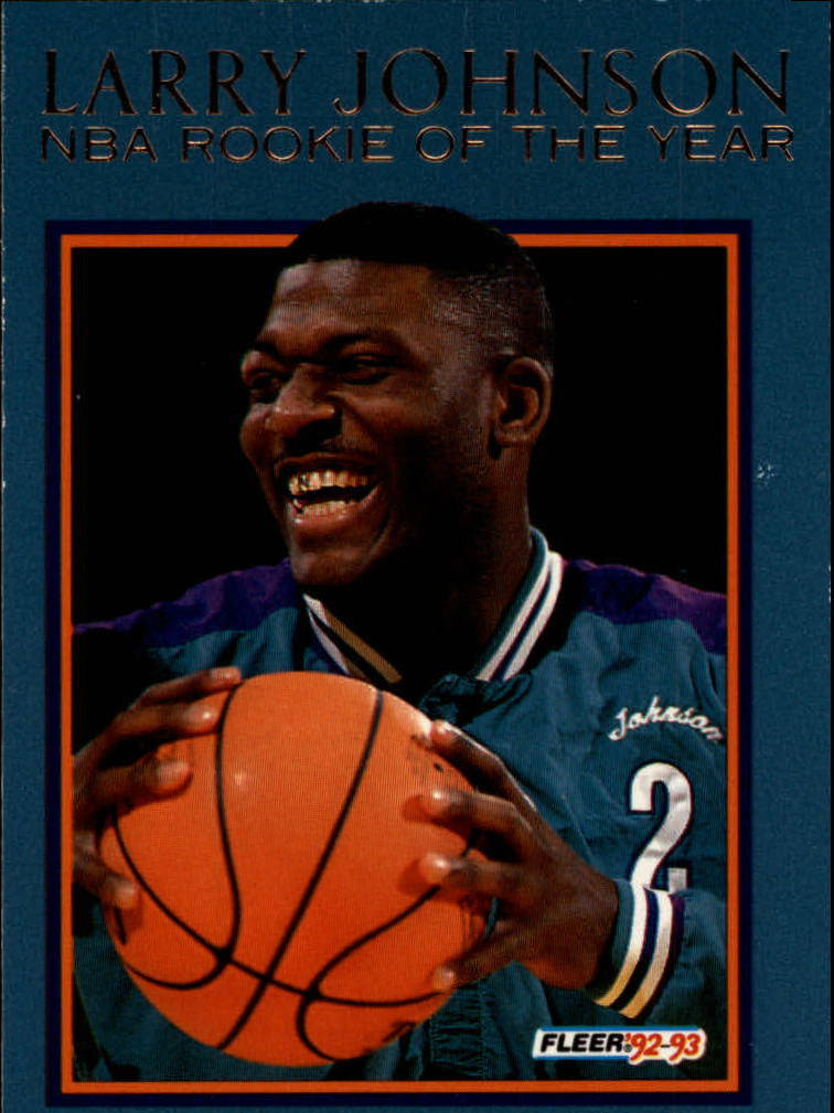 1992-93 Fleer Larry Johnson #5AU Larry Johnson AU