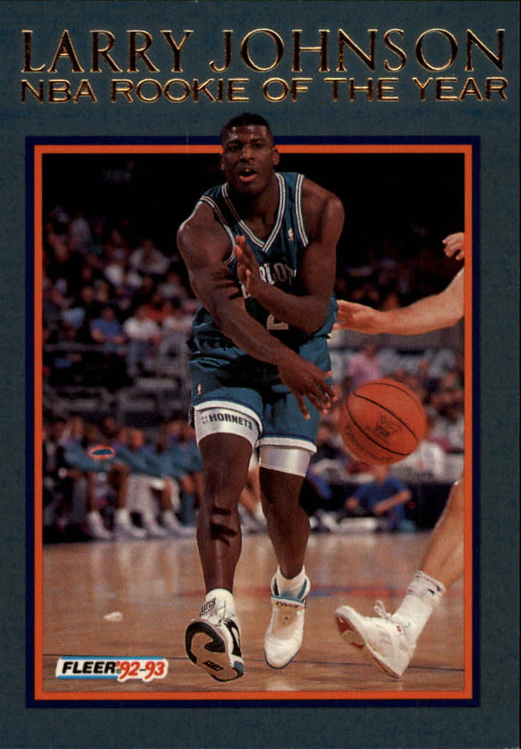1992-93 Fleer Larry Johnson #6AU Larry Johnson AU