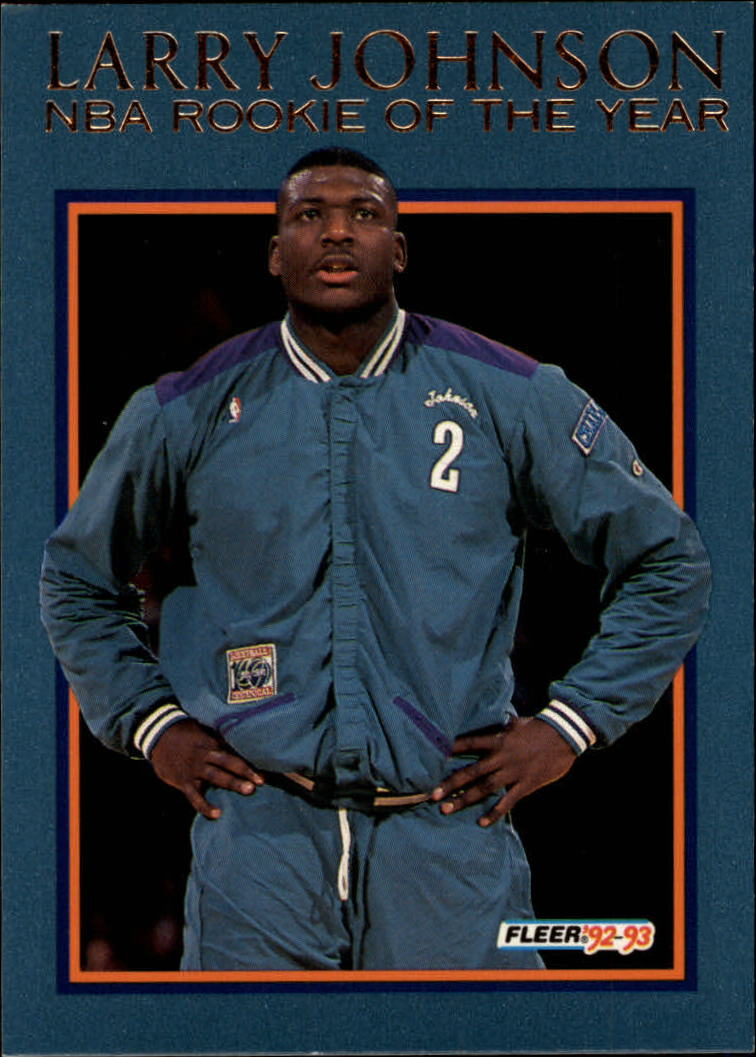 1992-93 Fleer Larry Johnson #10AU Larry Johnson AU
