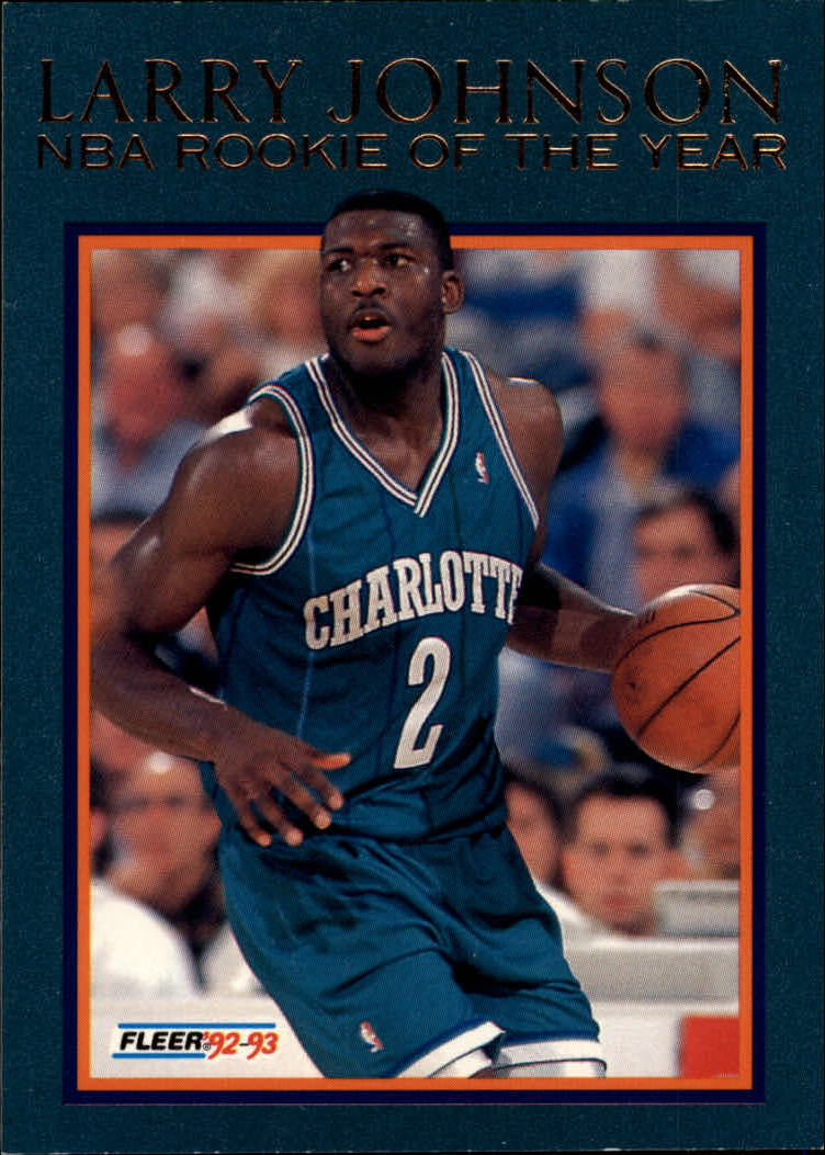 1992-93 Fleer Larry Johnson #12AU Larry Johnson AU