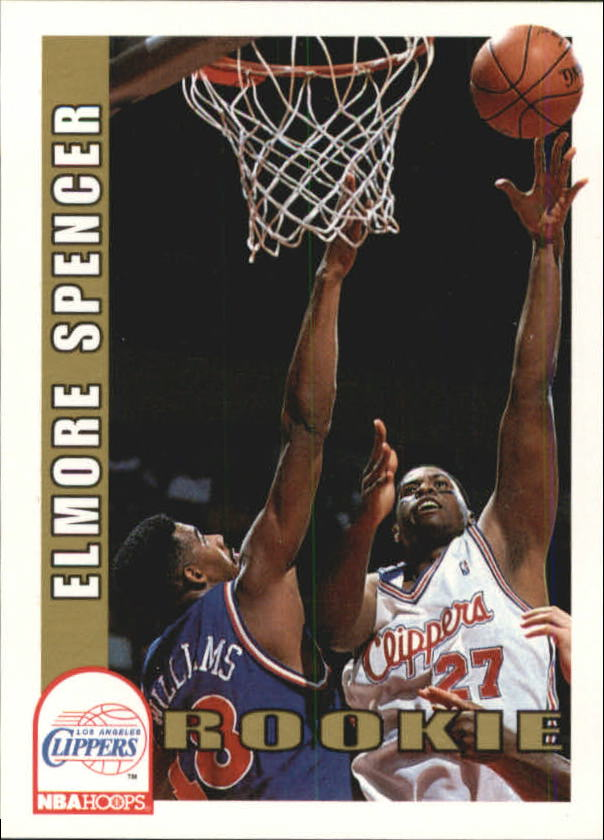 1992-93 Hoops #404 Elmore Spencer RC