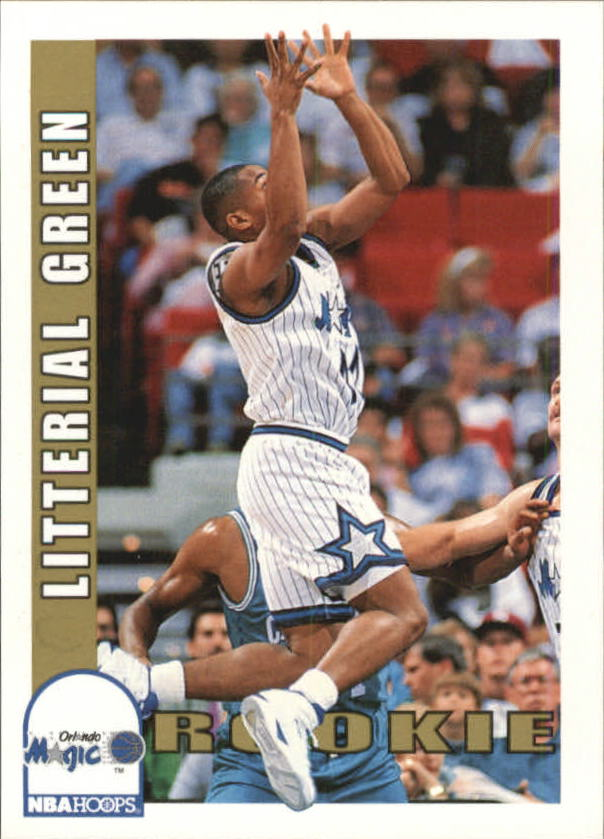 1992-93 Hoops #440 Litterial Green RC