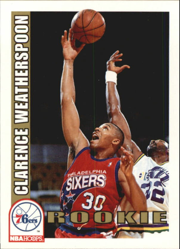 1992-93 Hoops #449 Clarence Weatherspoon RC