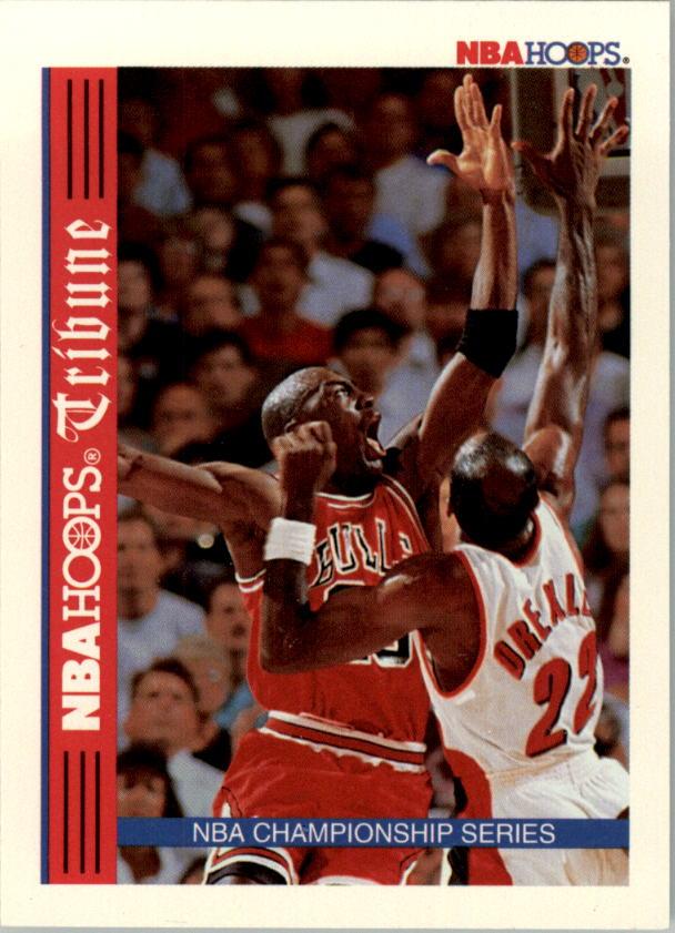 1992-93 Hoops #TR1 NBA Championship/Michael Jordan/Clyde Drexler