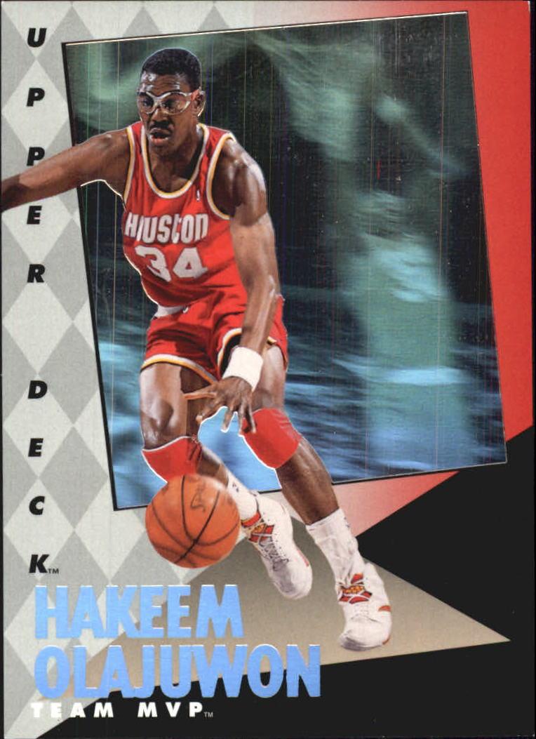 1992-93 Upper Deck MVP Holograms #10 Hakeem Olajuwon