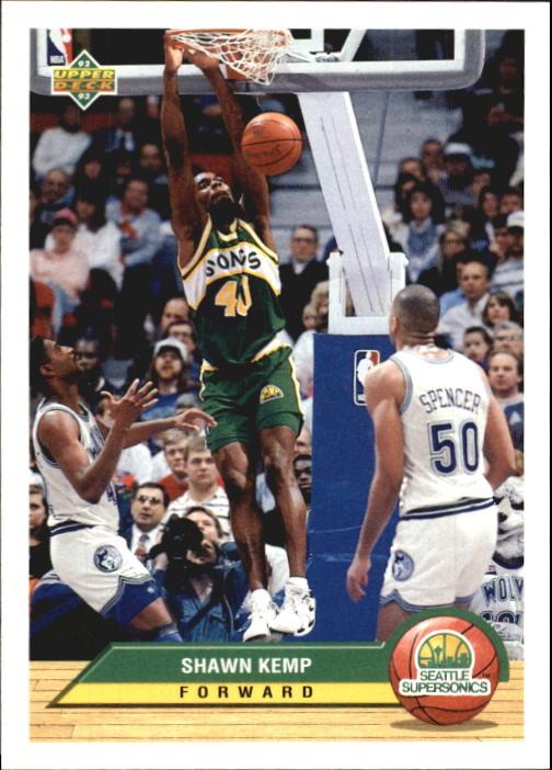 1992-93 Upper Deck McDonald's #P38 Shawn Kemp