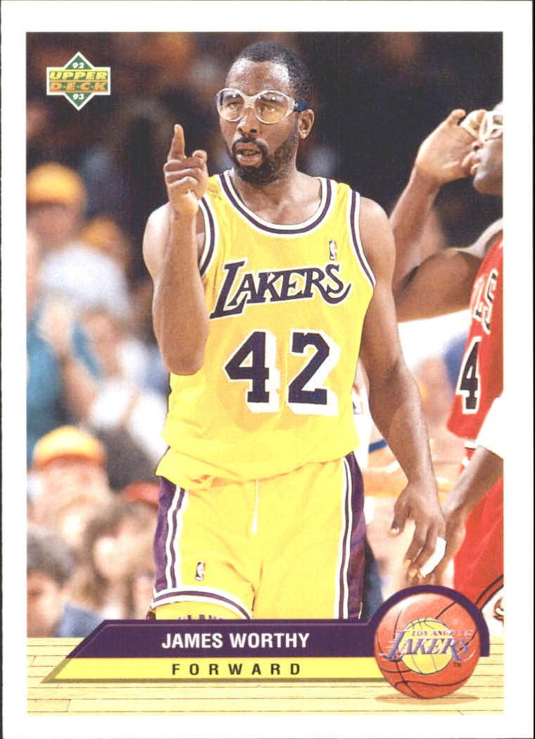 1992 93 Upper Deck McDonald s LA10 James Worthy NM MT