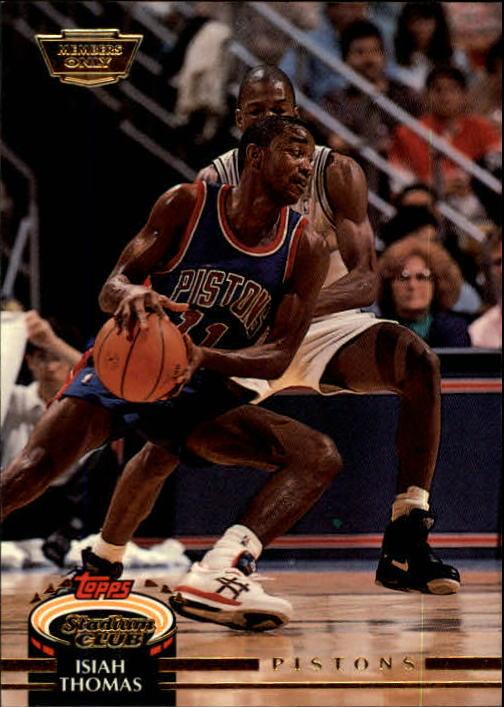1992-93 Stadium Club Members Only Parallel #50 Isiah Thomas
