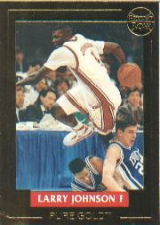 1992-93 Front Row LJ Pure Gold #1 Larry Johnson