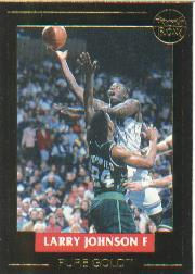 1992-93 Front Row LJ Pure Gold #2 Larry Johnson