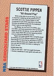 1992-93 Fleer Spalding Schoolyard Stars #4 Scottie Pippen back image
