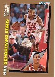 1992-93 Fleer Spalding Schoolyard Stars #4 Scottie Pippen