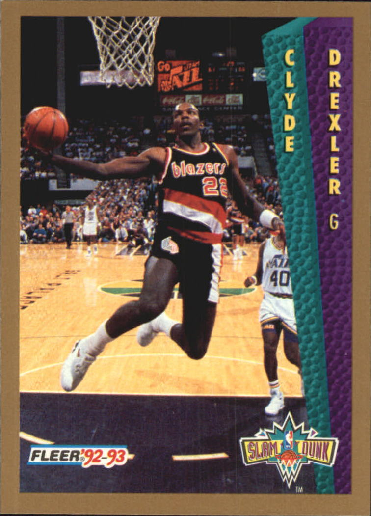 1992-93 Fleer Tony's Pizza #30 Clyde Drexler SD