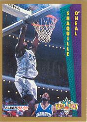 1992-93 Fleer Tony's Pizza #68 Shaquille O'Neal SD