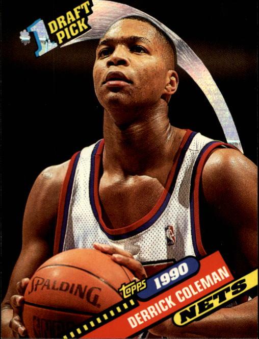 a78cde8bc4b 1992-93 Topps Archives New Jersey Nets Basketball Card  10 Derrick Coleman  FDP