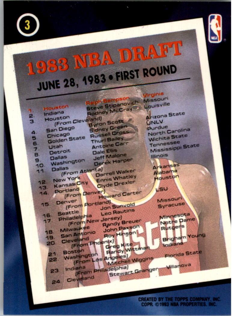 1992-93 Topps Archives Gold #3G Ralph Sampson FDP back image