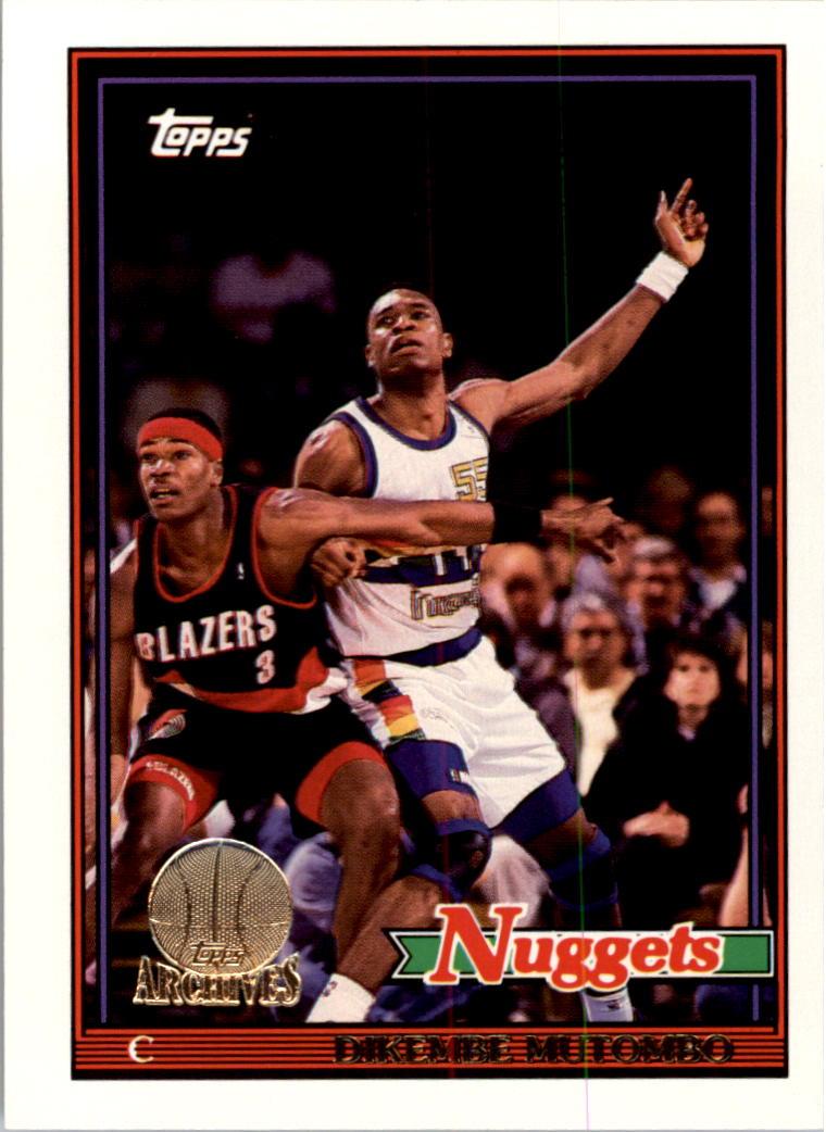 1992-93 Topps Archives Gold #146G Dikembe Mutombo