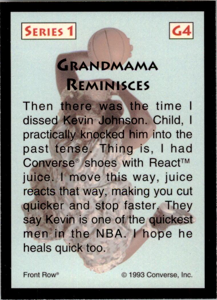 1993 Front Row LJ Grandmama #G4 Larry Johnson back image