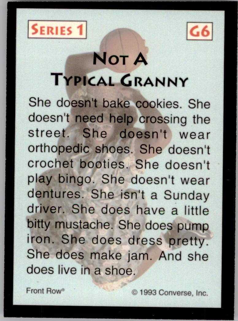1993 Front Row LJ Grandmama #G6 Larry Johnson back image