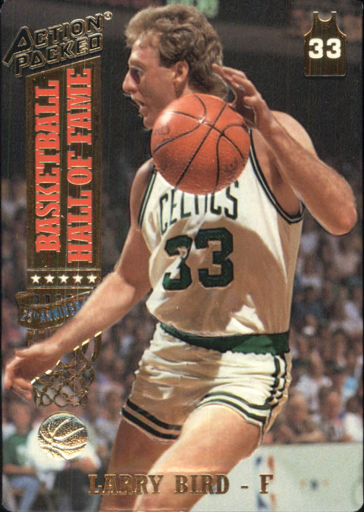 1993 Action Packed Hall of Fame #17 Larry Bird/Career Highlights