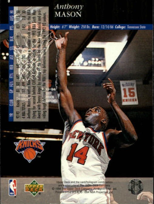 1993-94-Upper-Deck-SE-Basketball-Cards-Pick-From-List thumbnail 19