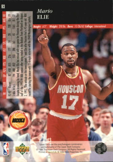 1993-94-Upper-Deck-SE-Basketball-Cards-Pick-From-List thumbnail 187