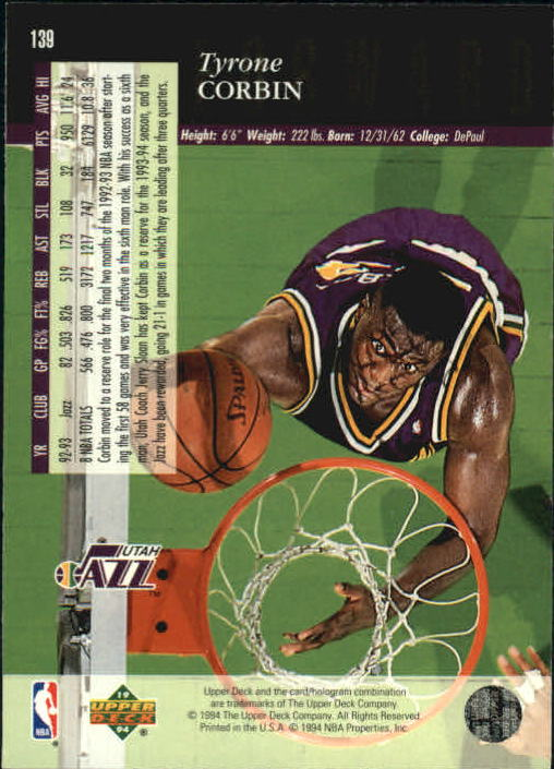 1993-94-Upper-Deck-SE-Basketball-Cards-Pick-From-List thumbnail 279