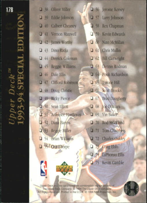 1993-94-Upper-Deck-SE-Basketball-Cards-Pick-From-List thumbnail 357