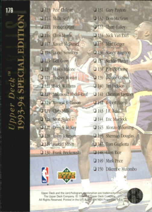 1993-94-Upper-Deck-SE-Basketball-Cards-Pick-From-List thumbnail 359