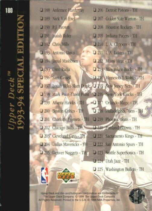 1993-94-Upper-Deck-SE-Basketball-Cards-Pick-From-List thumbnail 361