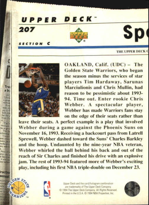 1993-94-Upper-Deck-SE-Basketball-Cards-Pick-From-List thumbnail 414