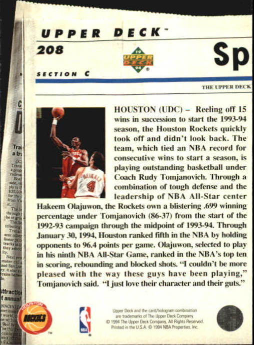 1993-94-Upper-Deck-SE-Basketball-Cards-Pick-From-List thumbnail 416