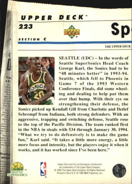 1993-94-Upper-Deck-SE-Basketball-Cards-Pick-From-List thumbnail 446