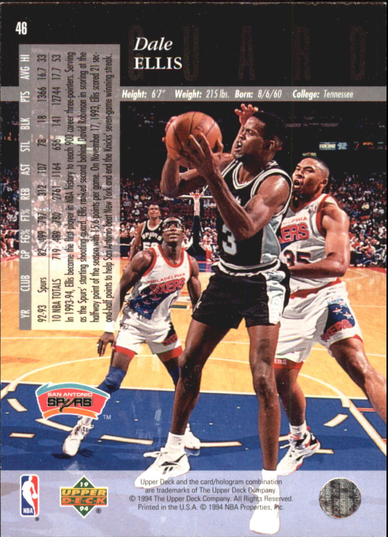 1993-94-Upper-Deck-SE-Electric-Court-Basketball-Cards-Pick-From-List thumbnail 65