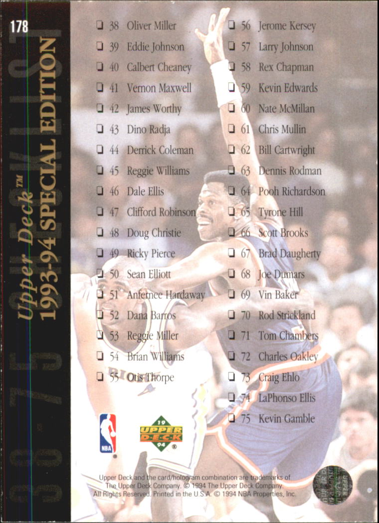 1993-94-Upper-Deck-SE-Electric-Court-Basketball-Cards-Pick-From-List thumbnail 219
