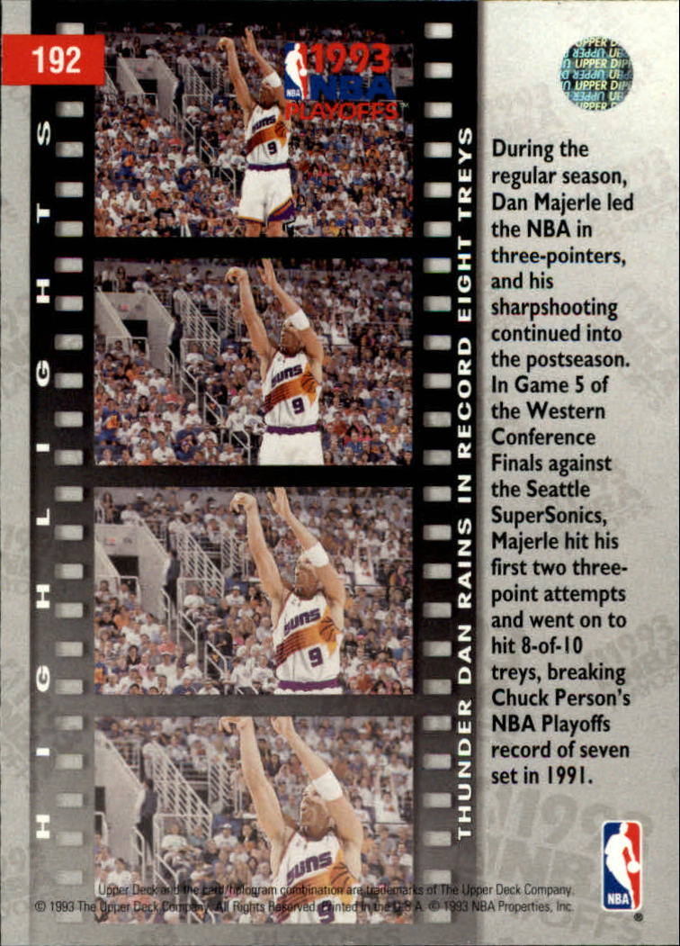 1993-94 Upper Deck #192 Dan Majerle PO back image