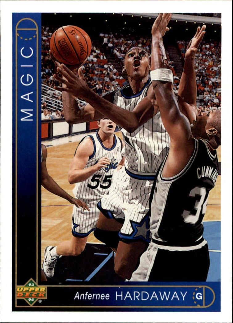 1993 Upper Deck Anfernee Hardaway 382 Basketball Card