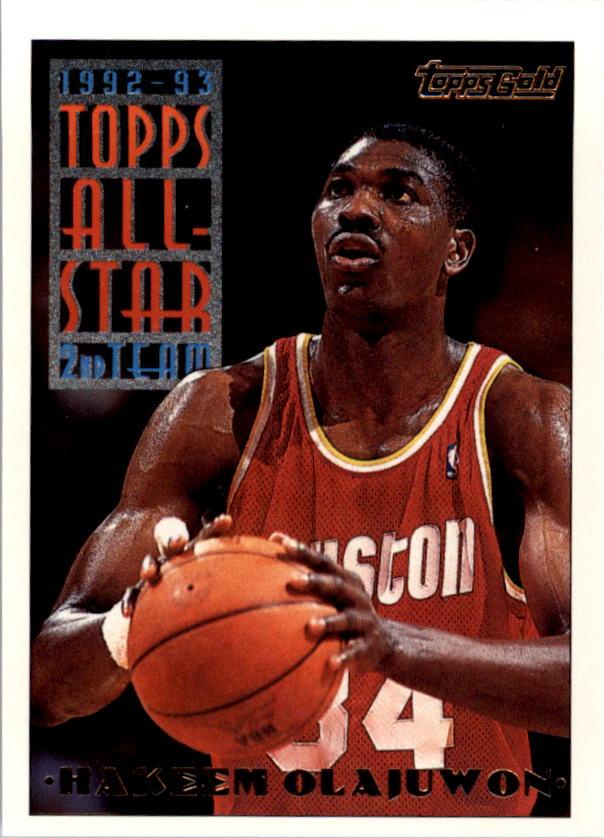 1993-94 Topps Gold #116 Hakeem Olajuwon AS