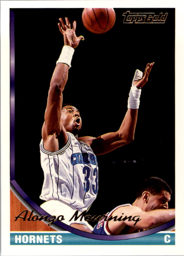 1993 94 Topps Gold 170 Alonzo Mourning Nm Mt