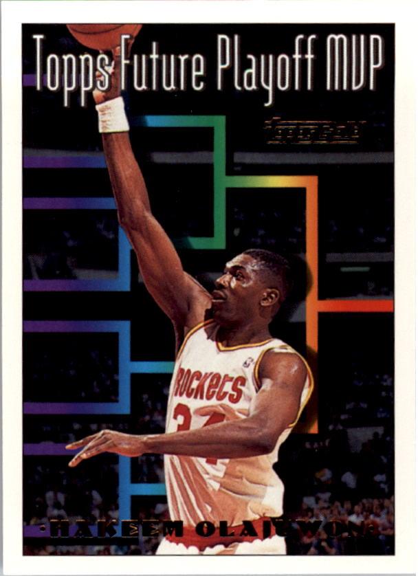 1993-94 Topps Gold #205 Hakeem Olajuwon FPM