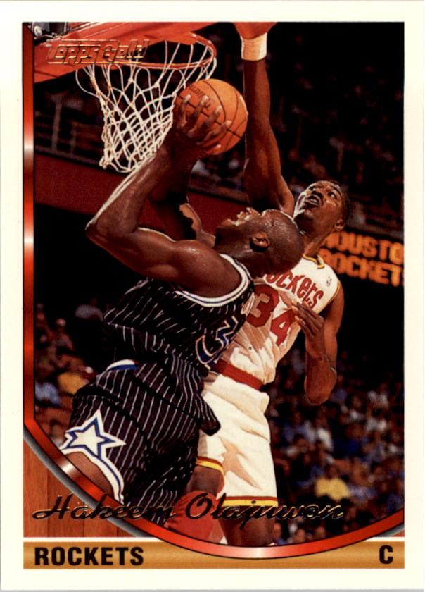 1993-94 Topps Gold #266 Hakeem Olajuwon