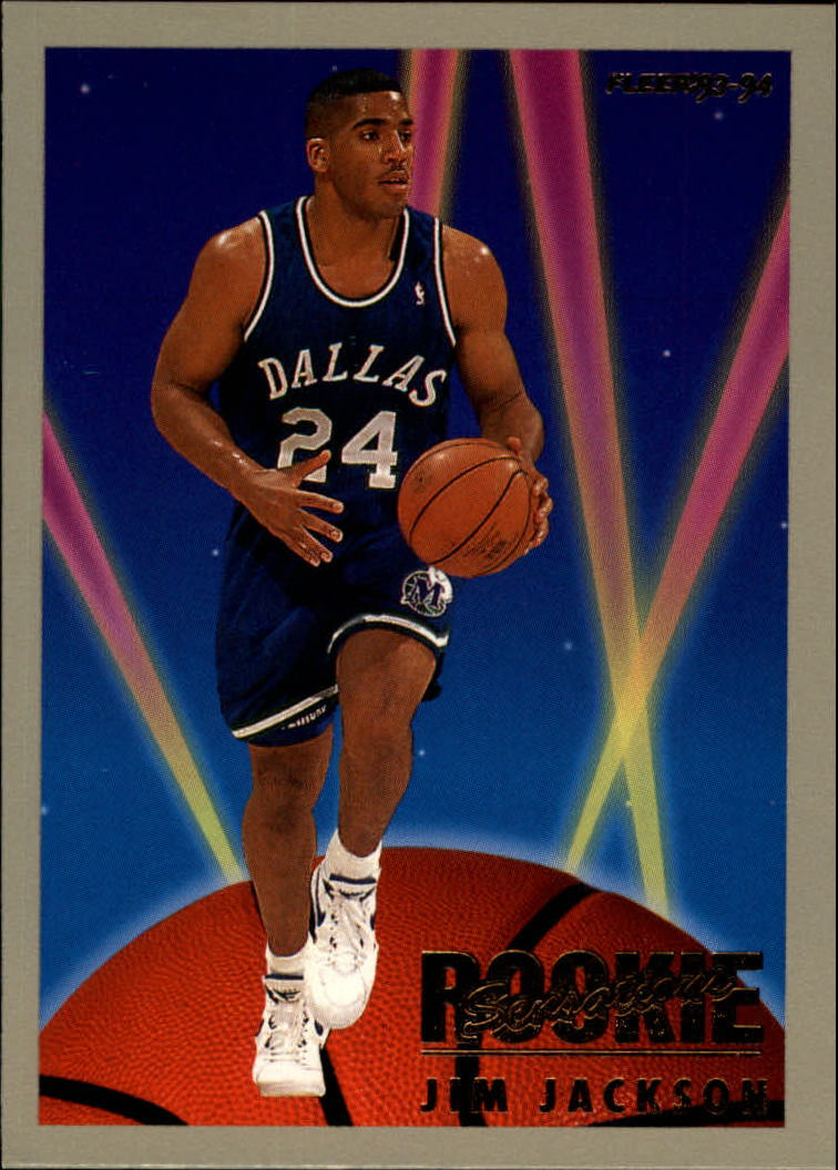1993-94 Fleer Rookie Sensations #11 Jim Jackson UER/(Text on back states he played/in Big East; he played in Big Ten)