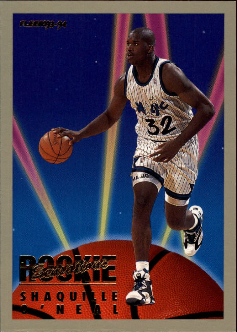 1993 94 Fleer Rookie Sensations 18 Shaquille Oneal Nm Mt