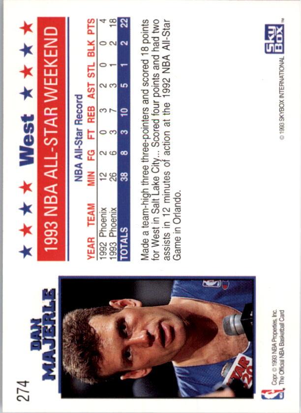1993-94 Hoops #274 Dan Majerle AS back image