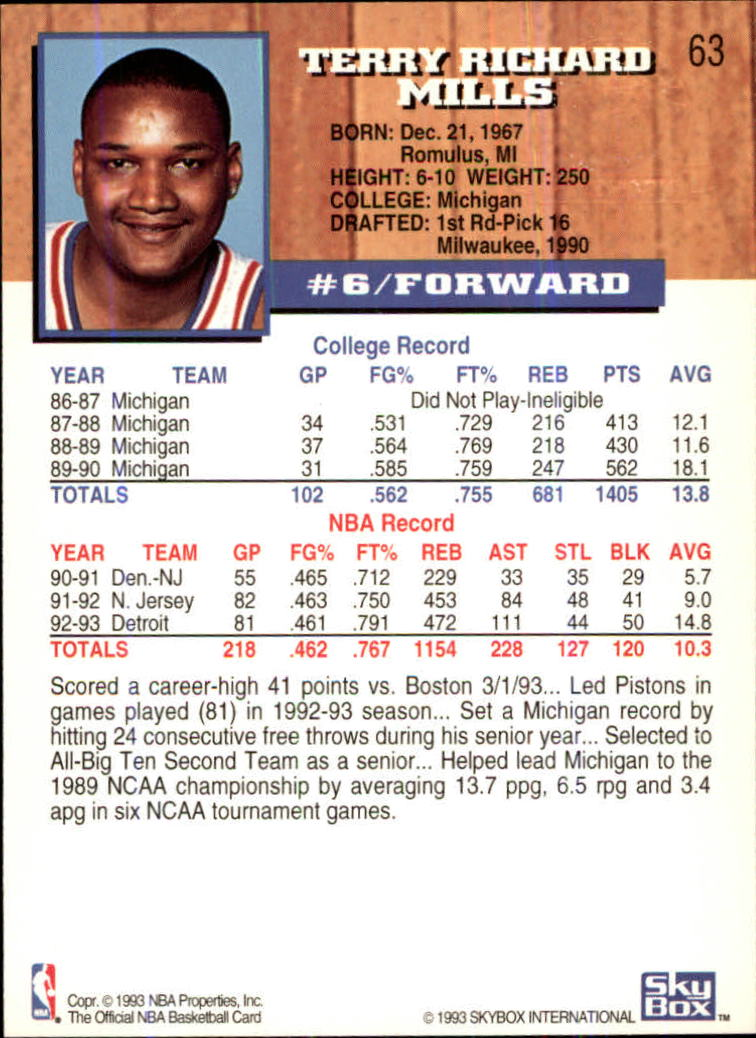 1993-94-Hoops-Fifth-Anniversary-Gold-Basketball-Cards-1-249-Pick-From-List thumbnail 79
