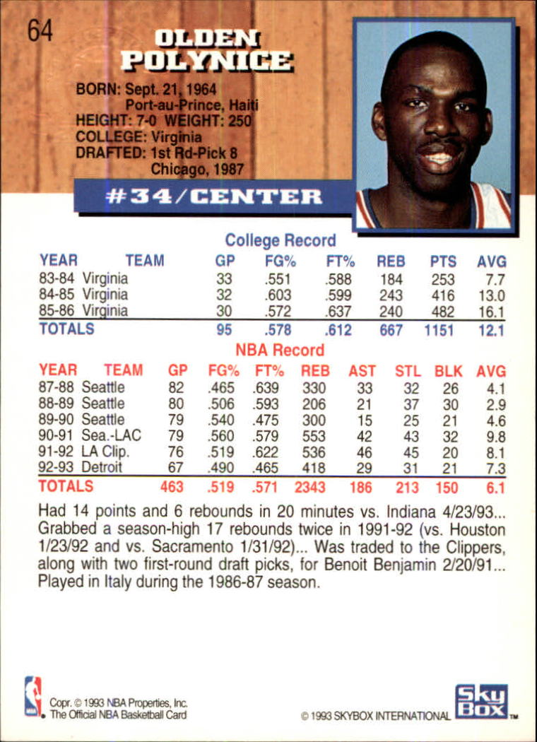 1993-94-Hoops-Fifth-Anniversary-Gold-Basketball-Cards-1-249-Pick-From-List thumbnail 81