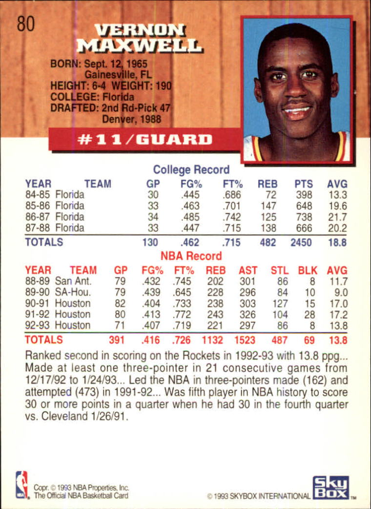 1993-94-Hoops-Fifth-Anniversary-Gold-Basketball-Cards-1-249-Pick-From-List thumbnail 103