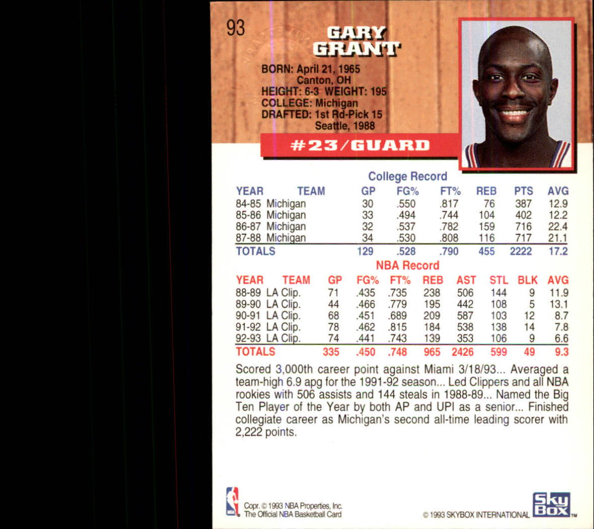1993-94-Hoops-Fifth-Anniversary-Gold-Basketball-Cards-1-249-Pick-From-List thumbnail 123